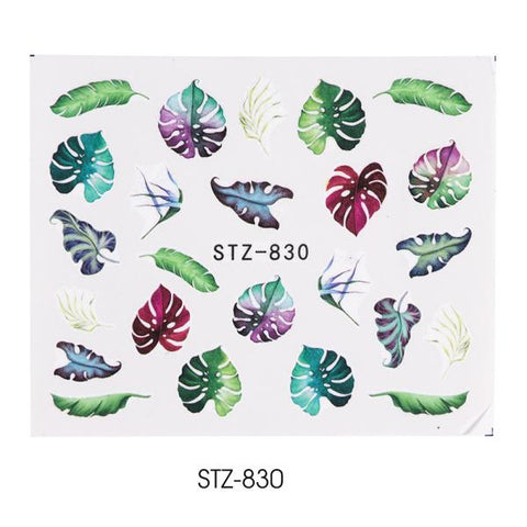 1pcs WaterNail Decal and Sticker Flower Leaf