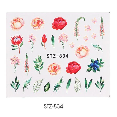 Image of 1pcs WaterNail Decal and Sticker Flower Leaf