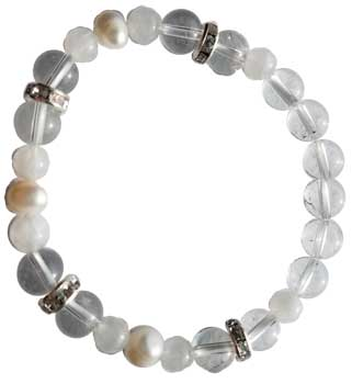 8mm Quartz- Rainbow Moonstone Pearl