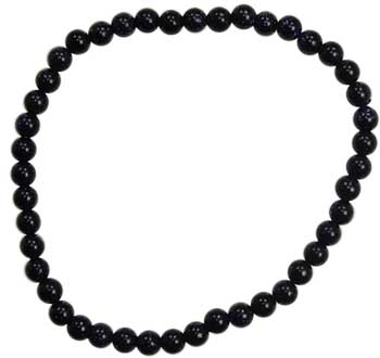 4mm Blue Goldstone Stretch Bracelet