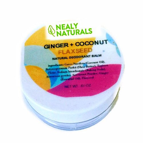 Ginger and Coconut Flaxseed Natural Active Deodorant Balm