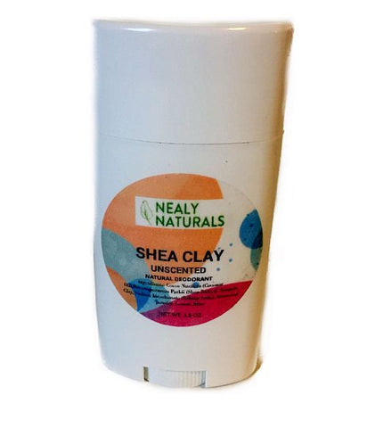Shea Clay Unscented Natural Deodorant Stick