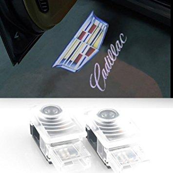 CWW-009AP-2 PCS DOOR WELCOME LIGHTS GHOST SHADOW CADILLAC LOGO