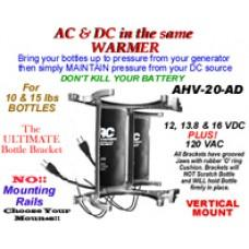 AD-AC & DC VOLTS HEATED NITROUS BOTTLE BILLET ANODIZED DUAL BRACKET VERTICAL CWW-CPT050