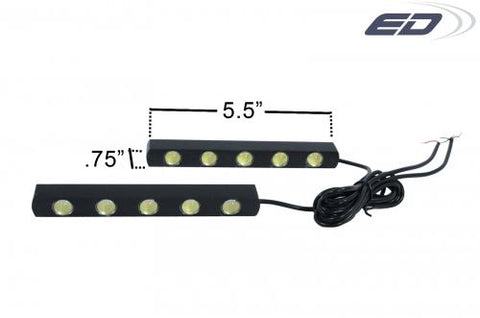 UNIVERSAL LED DAYTIME RUNNING LIGHT-2 PIECE CWW-BDKT0039