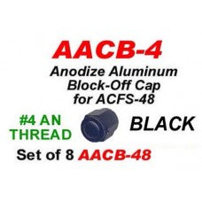 SET OF 8 #4 THREAD OF ANODIZED ALUMINUM BLOCK OFF CAP FOR CPT094 CWW-CPT091