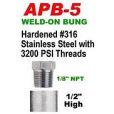 "#316 STAINLESS STEEL WELD-ON BUNG 1/2"" HIGH CWW-CPT099"