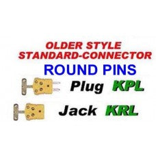 OLDER STYLE STANDARD CONNECTOR ROUND PINS CWW-CPT105