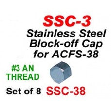 CWW-CPT110- PACKAGE OF 8 STAINLESS STEEL BLOCK OFF CAPS FOR CPT092