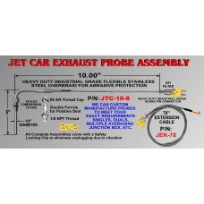 CWW-CPT112- JET CAR EXHAUST PROBE ASSEMBLY HEAVY DUTY INDUSTRIAL GRADE