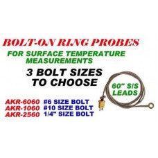 CWW-CPT116- BOLT ON RING PROBE FOR SURFACE TEMPERATURE MEASUREMENTS FOR A #6 BOLT