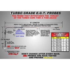 "CWW-CPT143- 13"" TURBO GRADE EGT PROBE"