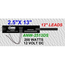 "CWW-CPT201- WATER TRUCK HEATER 2.5""x13"" LONG 12"" LEADS 200 WATTS AND 12 VOLT DC"
