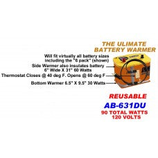CWW-CPT213- THE ULTIMATE REUSEABLE BATTERY WARMER 90 TOTAL WATTS 120 VOLT