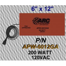 "CWW-CPT215- 6""x12"" PARTS WASHER HEATER SELF ADHESIVE 200 WATT 120 VAC"