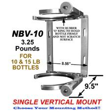 VERTICAL SINGLE 10/15 LB NITROUS BOTTLE BRACKET NON-HEATED CWW-CPT059