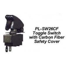TOGGLE SWITCH W/ CARBON FIBER SAFETY COVER CWW-CPT039