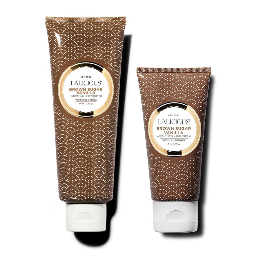 BODY BUTTER AND HAND CREAM DUO (BROWN SUGAR VANILLA) - SkinGlow Shop -  Skin Care Vancouver, Skin Care Canada