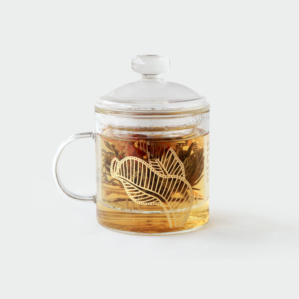 Double Blessing Glass Strainer Mug Tea Gift Box