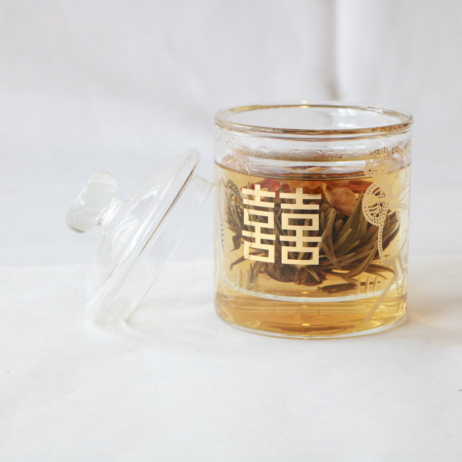 Taiwan Oolong with Glass Strainer Teapot Set