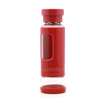Glass Portable Tea Infuser Brewing Cup (280ml) - Red