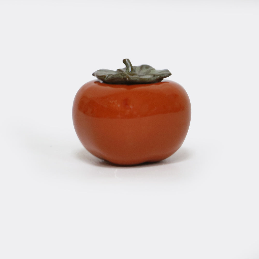 Persimmon Porcelain Tea Canister
