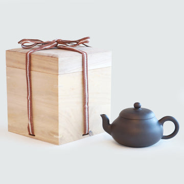 Purple Cane House Brand - Black Clay Pear Shape Teapot (270ml)