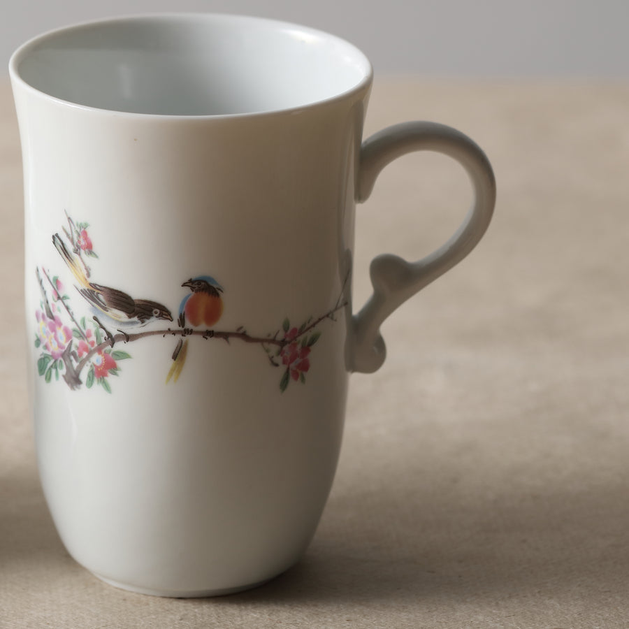 Porcelain Strainer Mug (300ml) - Love Bird