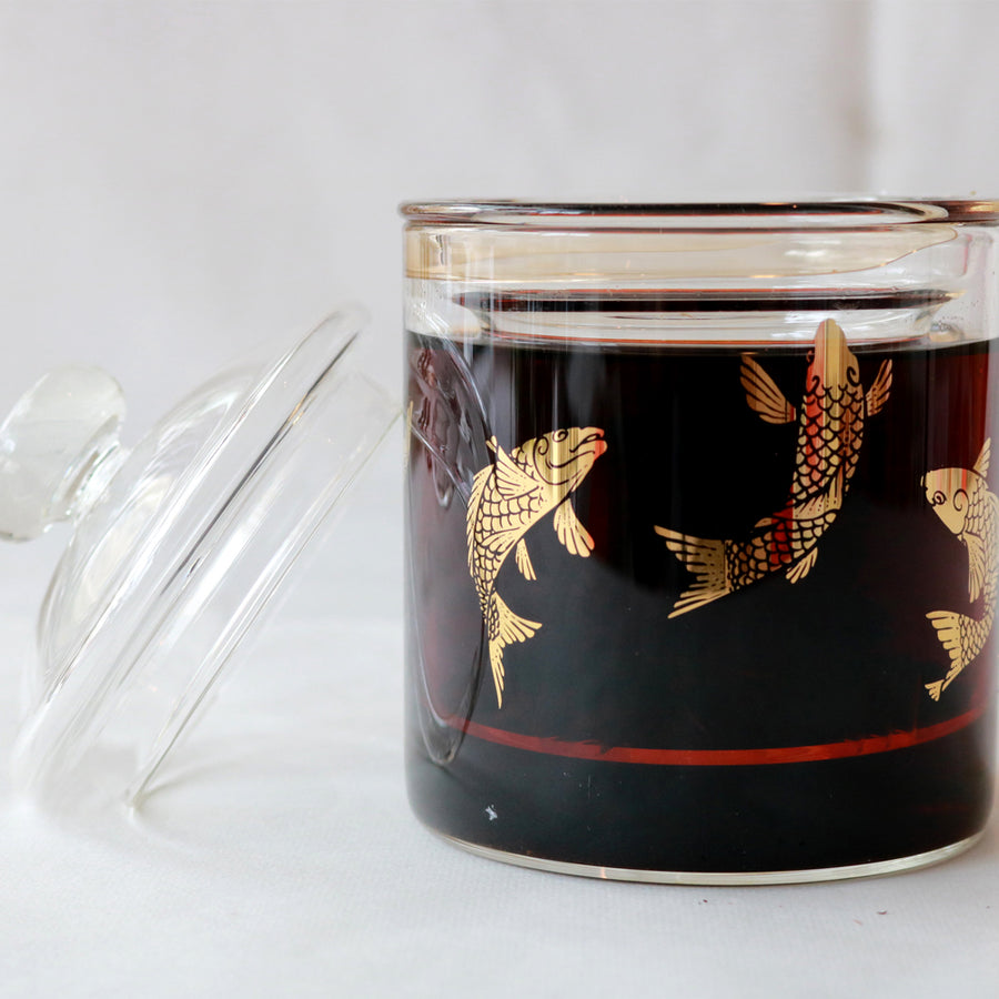 Golden Koi Premium Glass Strainer Mug (420ml)