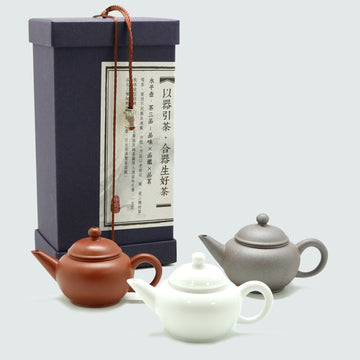 Lin's Ceramics Shui Ping Teapot Set of 3