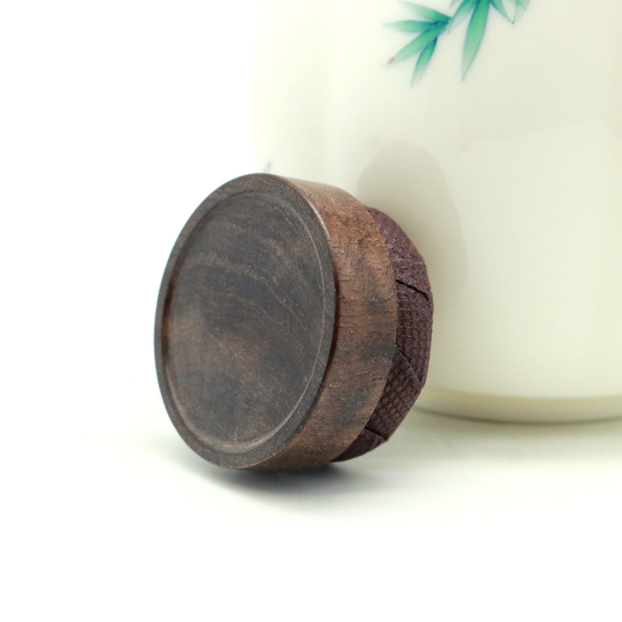 Hand Painted Bamboo Porcelain Tea Canister (11.5cm)