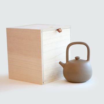 Purple Cane House Brand - Beige Clay Top Handle Teapot (420ml)