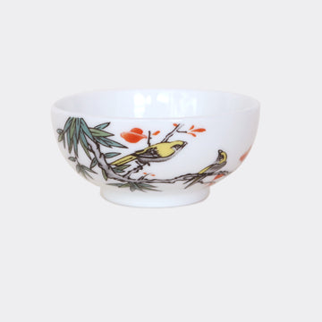 Golden Oriole Porcelain Tea Cup - Wide (70ml)