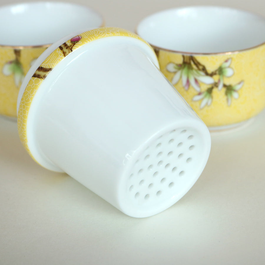 Yellow Enamel Travel 7pcs Strainer Set (150ml)