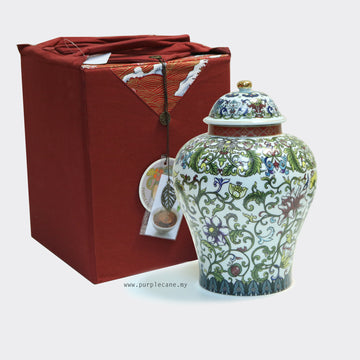 Aged Mini Tuo Tea Year 2010 Yunnan (1.8kg) with Porcelain Canister