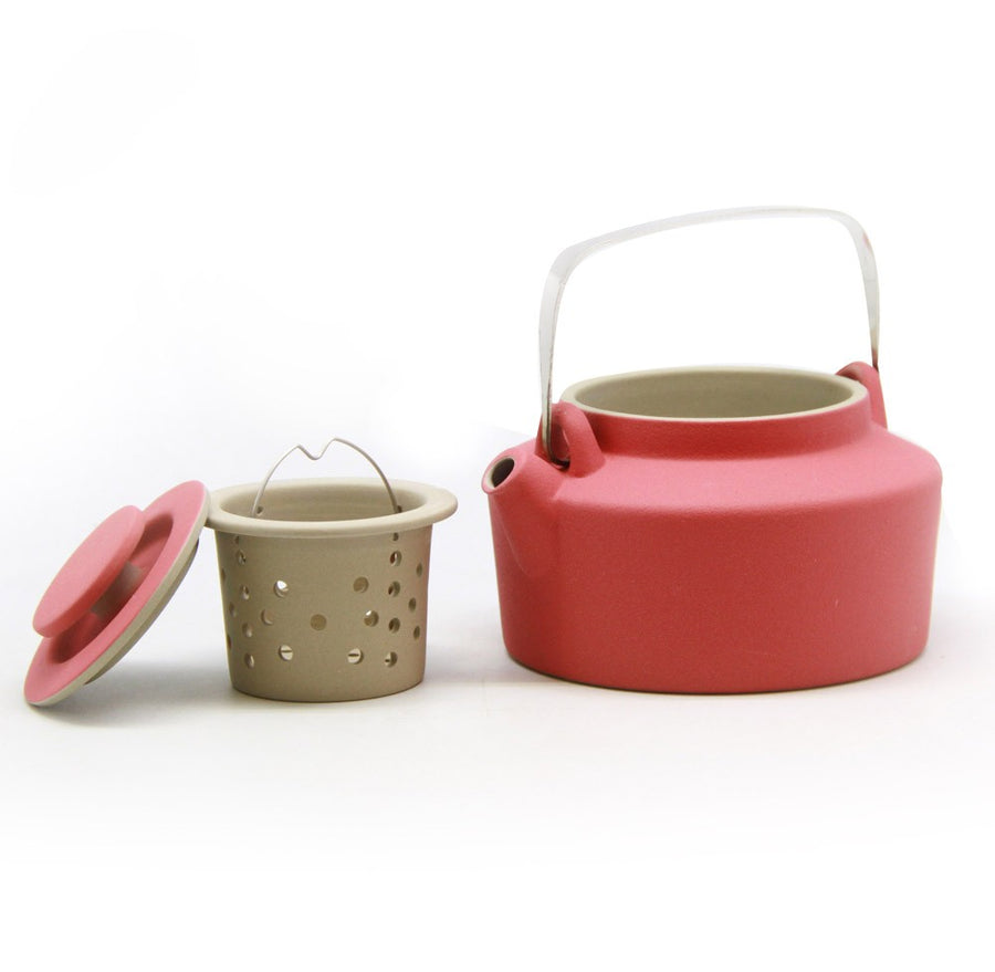 Purple Cane House Brand - Colourful Macaron-Inspired Ceramic Tea Pot Free 2 Cups (550cc)