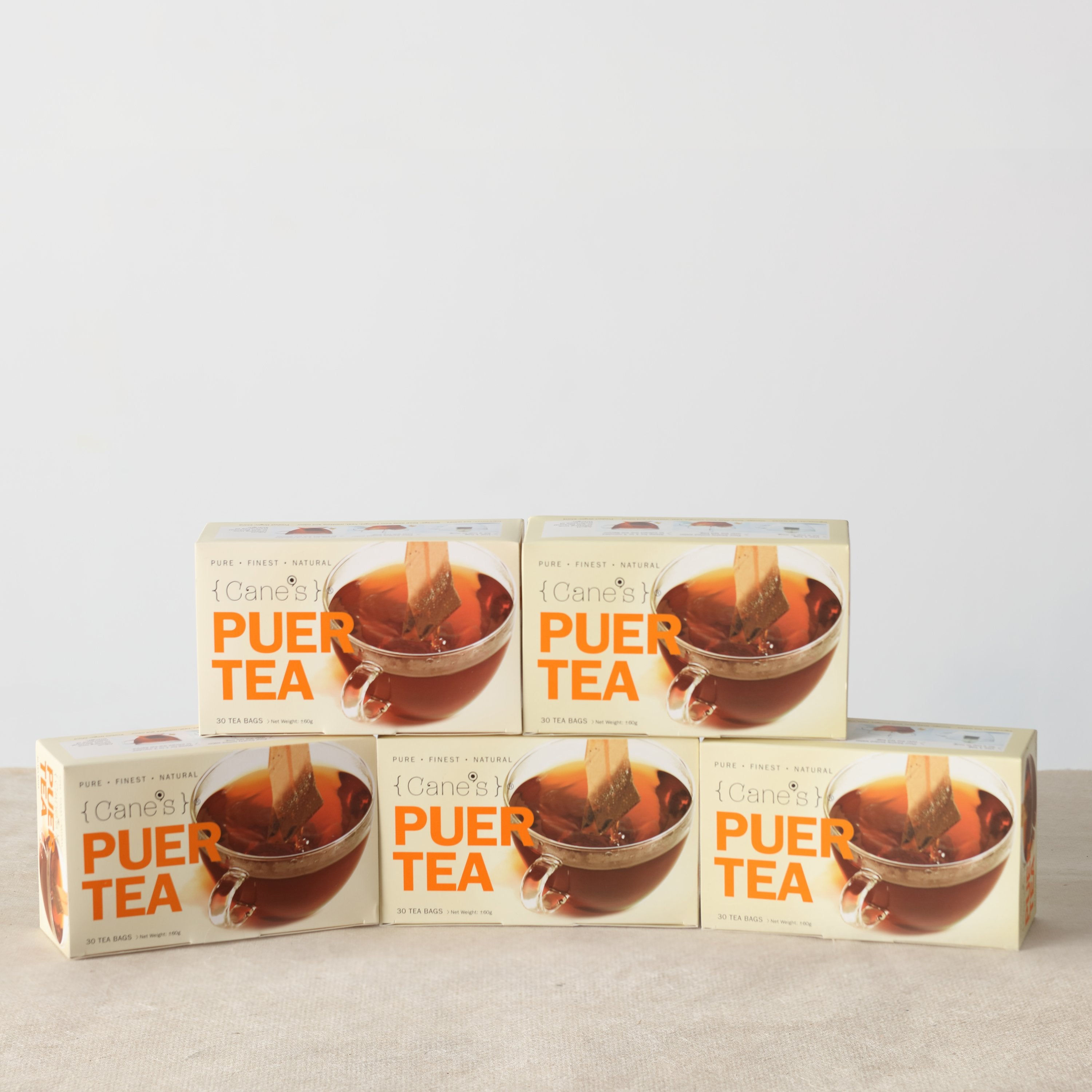 Cane\'s Puer Tea E-Offer Value Pack (30 Teabags/ 5 Boxes)