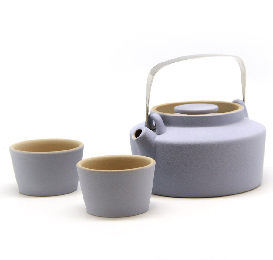 Purple Cane House Brand - Colourful Macaron-Inspired Ceramic Tea Pot Free 2 Cups