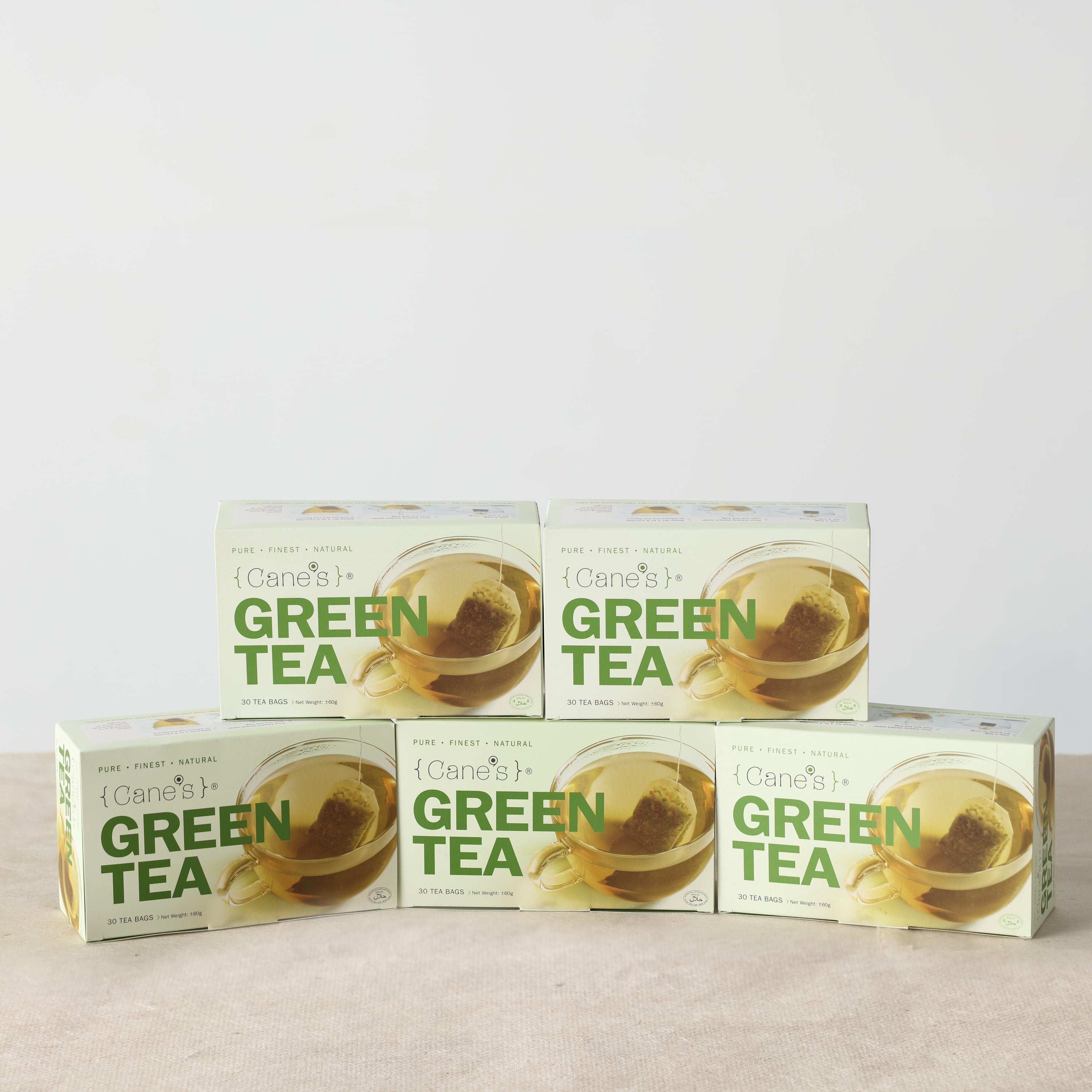 Cane\'s Green Tea E-Offer Value Pack (30 Teabags/ 5 Boxes)