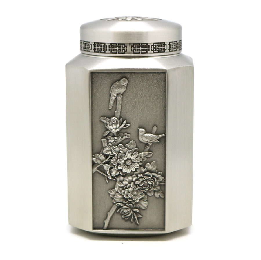 Royal Long Jing Green Tea Year 2020 Hangzhou (75g) with Selwin Pewter Tea Caddy