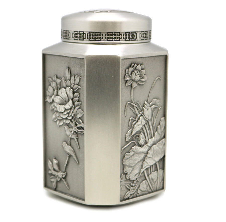 Pre-Order : Royal Long Jing Green Tea Year 2020 Hangzhou (75g) with Selwin Pewter Tea Caddy