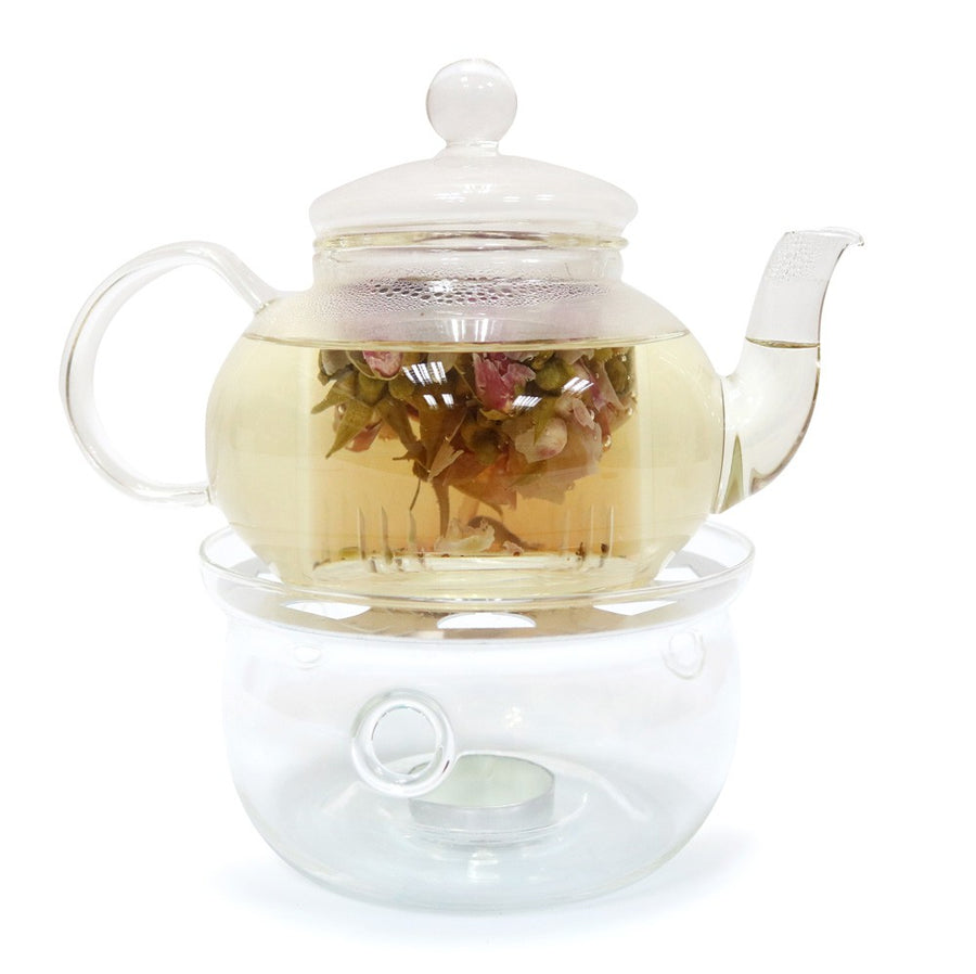 Glass Warmer Teapot Set - Side Handle (550cc)