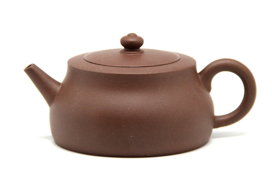 Purple Cane House Brand - Purple Clay Flat Lid Cucurbit Teapot (160cc)