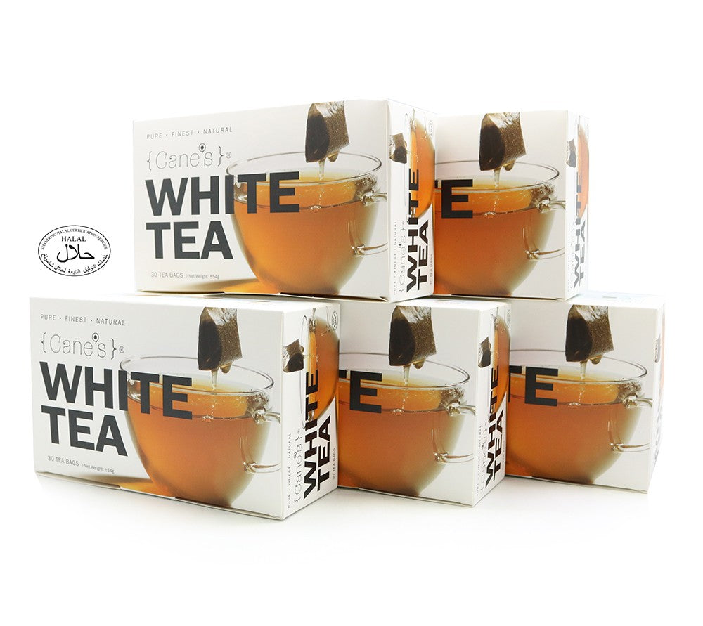 Cane's White Tea E-Offer Value Pack (30 Teabags/ 5 Boxes)