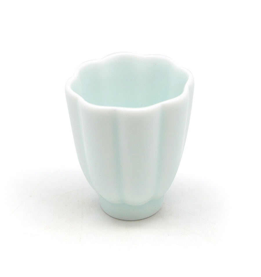 Pumpkin Design Green Porcelain Cup (40cc)