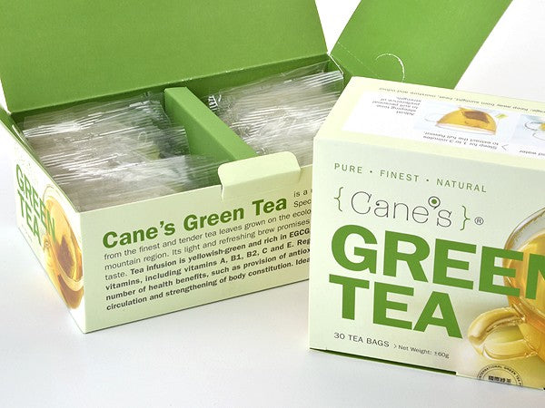 E-OFFER CANE'S GREEN TEA VALUE PACK (30 Teabags/ 5 Boxes)