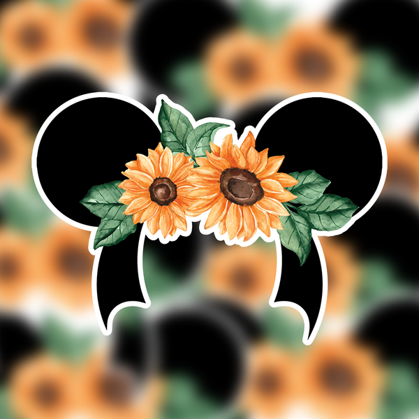Minnie Fall Sunflower Sticker