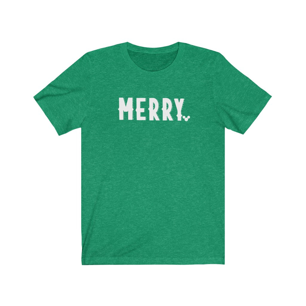 WHITE MERRY Christmas Shirt