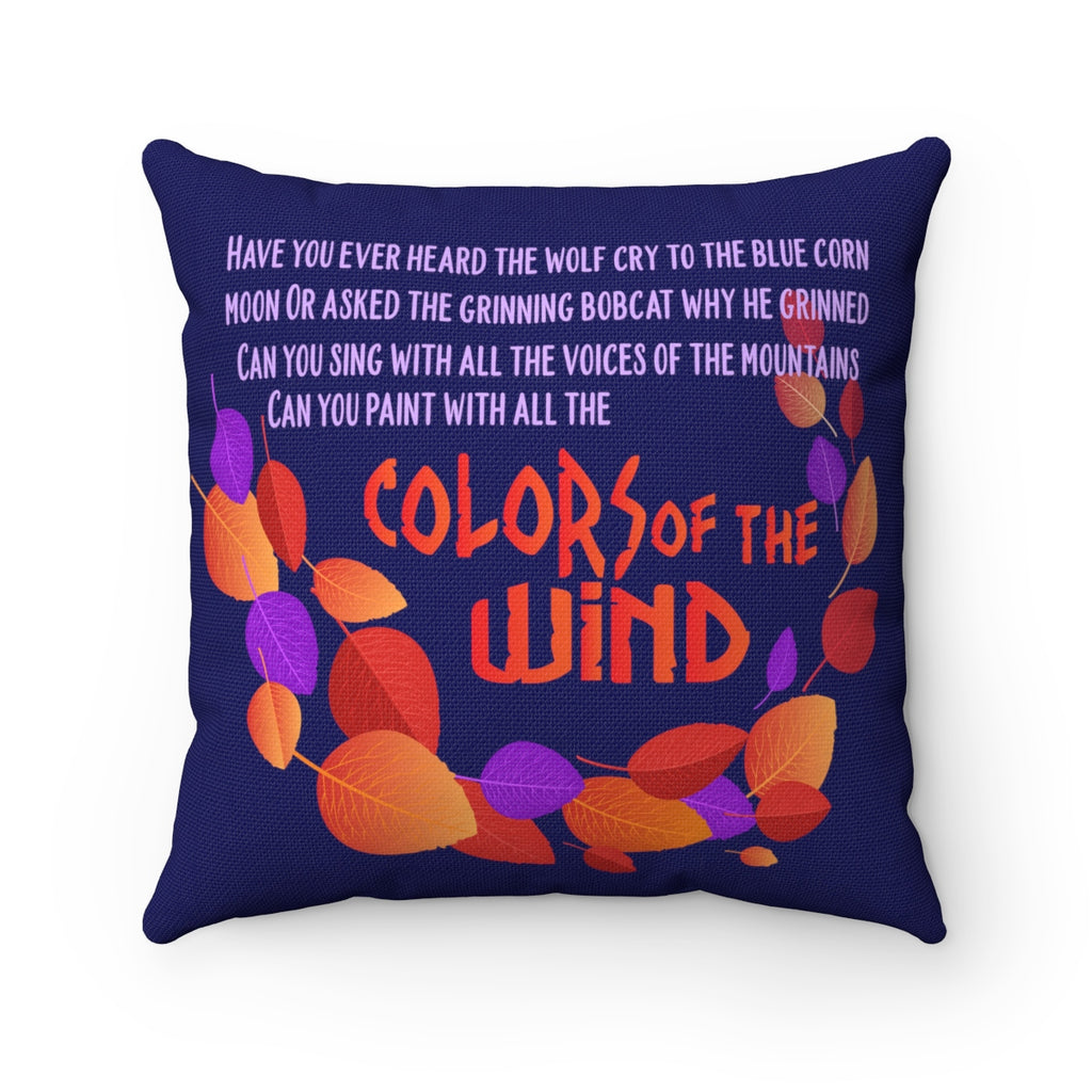Colors of the Wind Pocahontas Pillow Case