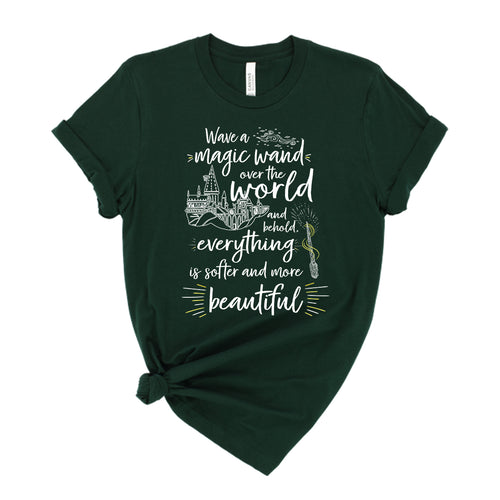 Wave a wand over the world and behold, everything is softer and more beautiful HP Wizard Shirt